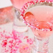 Cocktail Rim Sugar - pink with hearts
