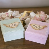 Mr and Mrs Love Birds Ring Boxes