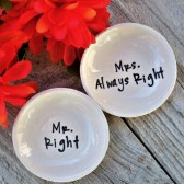 Mr Right-Mrs Always Right Ring Bowl Set