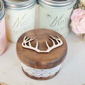 Antler Round Ring Box