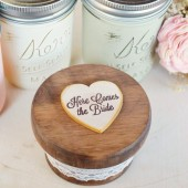 Here Comes the Bride Round Ring Box