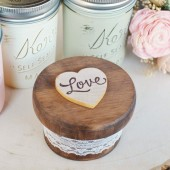 Love Round Ring Box