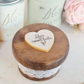 Love Never Fails Round Ring Box