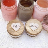 Round Bride and Groom Set