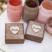 Stained Bride and Groom Set