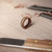 Wood and MOss Wedding Band