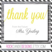 Thank You From the Future Mrs Set of Note Cards