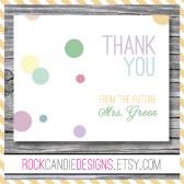 Personalized Thank You Card From the Future Mrs Set of Cards