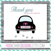 Personalized Thank You Notecards for the Newlyweds