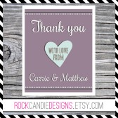 Thank You With Love From the New Couple Stationery Set
