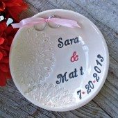 Romantic Lace Ring Bearer Bowl