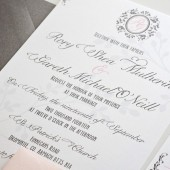 Princess fairytale wedding invitation for elegant wedding – Rory