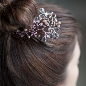 Rosalie rose gold headpiece