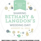 Roxanne – Confetti & Banner Wedding Favor Labels