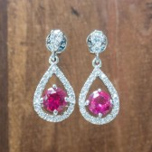 Rose Wedding Earrings
