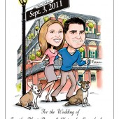 Save the Date Custom Caricature Card or Magnet