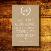 Rustic Kraft Save the Date
