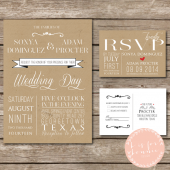 Rustic Kraft Invitation Suite