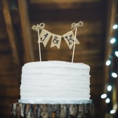 Personalized Cake Topper, Rustic Country Barn Wedding Cake Topper, Rustic Cake Topper, Rustic Wedding Cake Topper, Burlap Cake Topper
