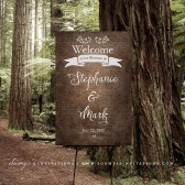 PRINTABLE Wedding Welcome Sign, Enchanted Forest Wedding Sign, Rustic Woodland Wedding Sign, Faux Wood Wedding Sign, Fairytale Wedding Sign by Soumyas Invitations