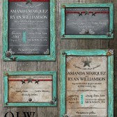 Rustic Frame Wedding Stationery