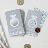 Platinum Grey Bridal Shower Scratch-Off Game