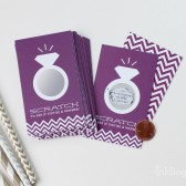 Rich Purple Bridal Shower Ring Scratch-Off Games