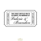 Wedding Rubber Stamp Customized Ticket Celebrate Marriage Save The Date – SD002