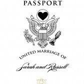 Custom Rubber Stamp DIY Passport Invitation Cover United Marriage Destination Wedding Save The Date – SD004