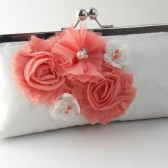 Guava wedding clutch