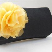 Bridesmaids black clutch