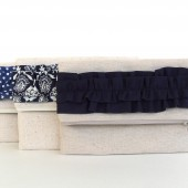 Ruffle fold over clutch