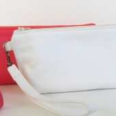 Guava and White Clutch