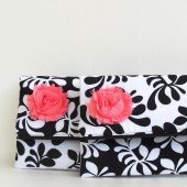 black and white bridesmaids  clutch