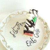 wedding cake plate keepsake