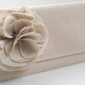 Bridesmaids clutch burlap and lace wedding