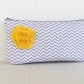 Gray chevron clutch