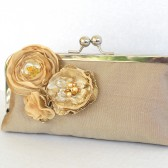 Gold Silk Bridal Clutch