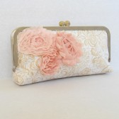 Gold and Blush clutch