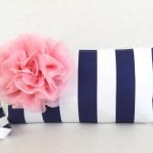 Navy and PInk clutch