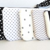 Black, White and Gray clutches
