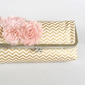 Gold Chevron Bridesmaids clutch