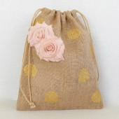 Gold and blush money dance bag