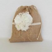 Burlap Dance Bag