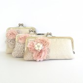 Bridal Clutch Shabby Chic wedding