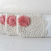 Coral wedding clutch