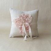 Ring pillow, blush wedding accessories, rustic wedding accessories, barn wedding, french country wedding