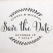Stamp Your Own Floral Save the Date
