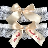 Champagne Wedding Garter