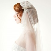 Touch of Love - Bridal Juliet cap Veil